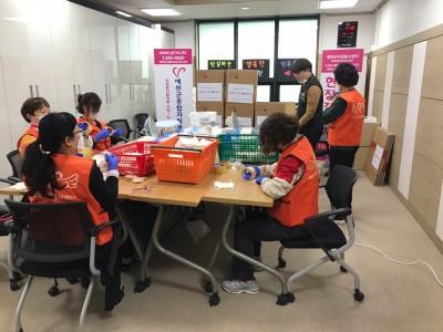 코로나19 대응 - 경북형 마스크 포장작업