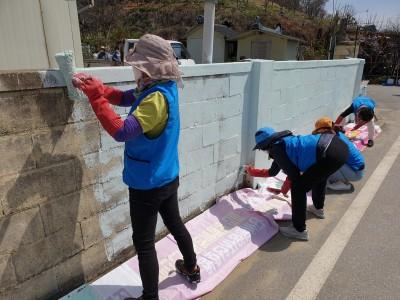 예천읍 여성자원봉사회 마을 벽화그리기 활동(1)