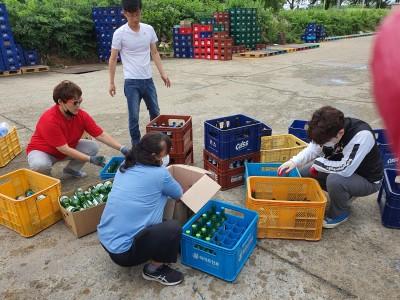 용문면 거점센터 빈병 기부(2)