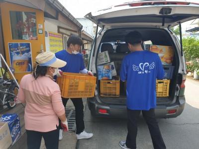 용문면 거점센터 빈병 기부